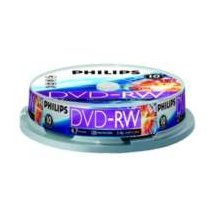 Диски Philips DVD-RW 4,7GB 10pcs spindel 4x