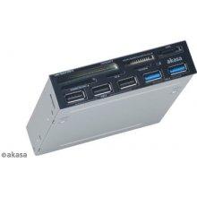 Кард-ридер AKASA AK-ICR-17, CF, MicroDrive...