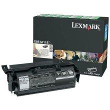 Tooner Lexmark X651A11E Return Toner must