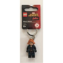 LEGO чёрный Widow Keychain