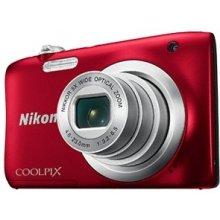 Фотоаппарат NIKON Coolpix A100, красный
