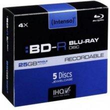 Toorikud INTENSO BD-R 25GB 5 Jewel ümbris...