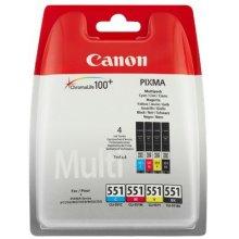 Тонер Canon CLI-551 C/M/Y/BK w/sec, Black...