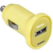 Hama USB-Ladegerät Picco 12 V 1 A жёлтый