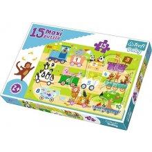 TREFL Puzzle Baby 15 pcs Maxi - Train koos...