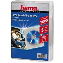 Диски Hama DVD-Leerhülle Slim transparent