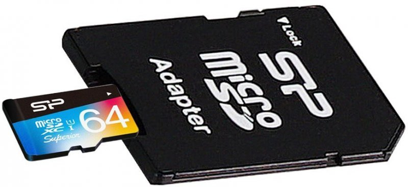 8211ed0f2c0 Mälukaart SILICON POWER Micro SD 64GB UHS-1 Sup/class 10 w/adapt/Color