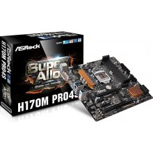 Emaplaat ASRock H170M PRO4S s1151 H170 4DDR4...