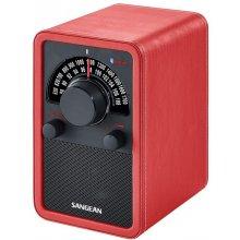 Радио Sangean WR-15 BT rotes Leder