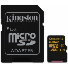 Флешка KINGSTON Micro SDXC 64GB CL10 UHS-1...