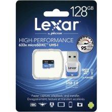 Mälukaart Lexar microSDXC 633x UHS-I 128GB...