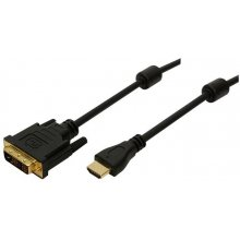 LogiLink HDMI-DVI-kaabel HDMI -> DVI Bu/St...