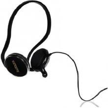 4World Stereo наушники with микрофон, black