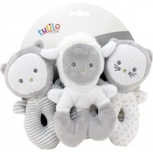 Axiom Plush rattles set 3 pcs 13 cm