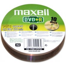 Диски Maxell диск DVD+R 4,7 16x spindle 10