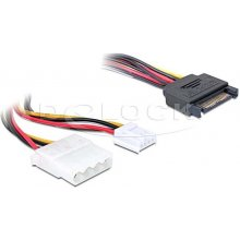 Delock kaabel Y-Power SATA Stecker > Molex...