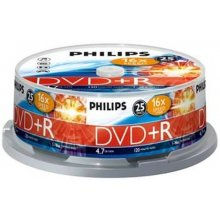 Диски Philips 25 x DVD+R, 4.7GB/120min, 16x...