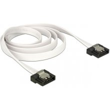 Delock Cable SATA FLEXI 6 Gb/s 100 cm white...