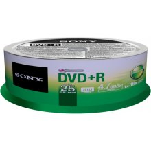 Диски Sony DVD+R 4,7 GB | 16x [cake 25 pcs]