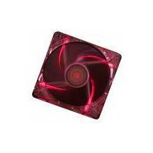 XILENCE CASE FAN 120MM TRANSP 3PIN+4P/RED...