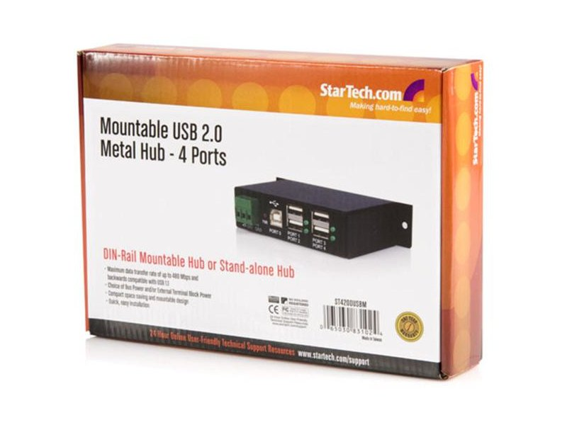 StarTech 4-Port USB 2.0 Hub ST4200USBM