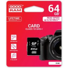 Mälukaart GOODRAM SD Card 64GB SDXC UHS-I...
