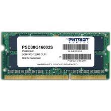 Mälu PATRIOT DDR3 SODIMM 8GB 1600MHz CL11