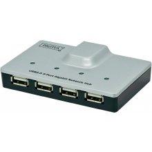 ASSMANN HUB USB2.0 4x USB-1x RJ4 GbE