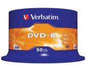 Diskid Verbatim DVD-R 4.7GB 16X - tornis 50...