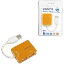 LogiLink USB 2.0 Hub 4-Port, Smile, oranž