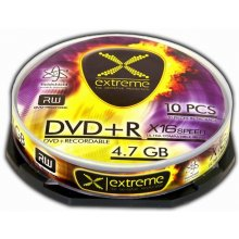 Диски Extreme DVD+R 4,7 GB x16 - Cake Box 10