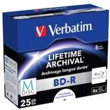 Диски Verbatim 1x5 M-диск BD-R Blu-Ray 25GB...