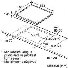 Плита BOSCH Hob PKE645D17 60 cm Ceramic...
